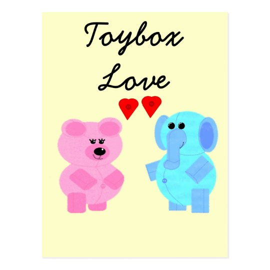toybox love postcard