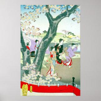 Toyohara Chikanobu Chiyoda Great Interior Flower V Poster