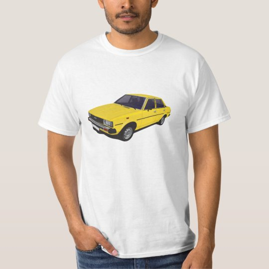 Toyota Corolla DX E70 yellow t-shirt