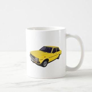 Toyota Corolla DX KE70 4-door yellow Coffee Mug