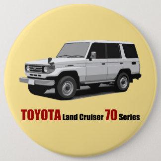 Toyota Land Cruiser 70 Series HZJ77 6 Inch Round Button