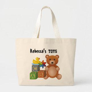 Toys - Customizable Large Tote Bag
