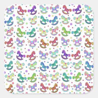 Toys pattern square sticker