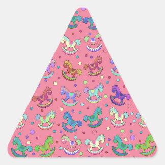 Toys pattern triangle sticker