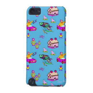 Toys – Pink Dollhouses & Turquoise Kites iPod Touch 5G Cases