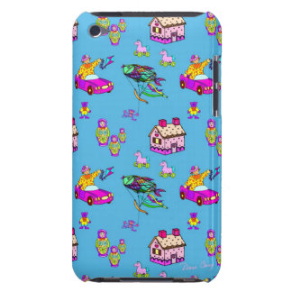 Toys – Pink Dollhouses Turquoise Kites Barely There iPod Cover