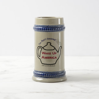 TP0101 Tea Party Wake Up America Beer Stein