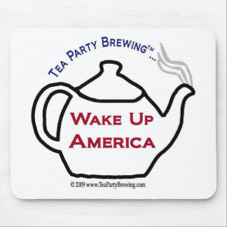 TP0101 Tea Party Wake Up America Mousepad