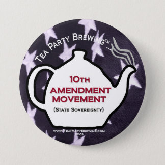 TP0109 Tea Party 10th Amendment Movement Button