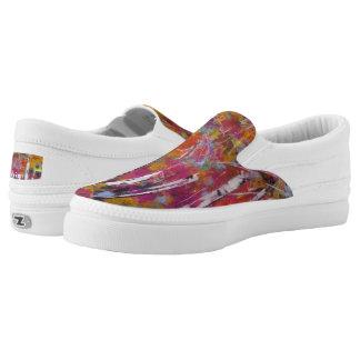 "Tquinn original art ""Aspen Fun"" Slip-On Sneakers"