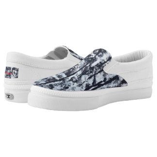 """Tquinn original art """"Black and White"""" slipons Slip-On Sneakers"""
