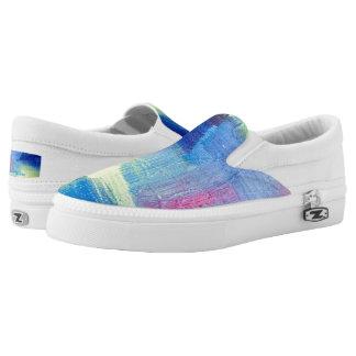 "Tquinn original art ""Cool Breeze"" Slip-On Sneakers"