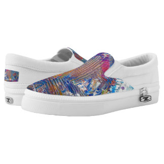 "Tquinn original art ""Rio Nights"" Slip-On Sneakers"
