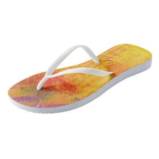 "Tquinn original art ""Summer Delite"" Flip Flops"