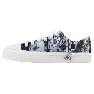 """Tquinn original wearable art """"Black and White"""" Low-Top Sneakers"""