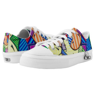 "Tquinn original wearable art ""HappyCells"" Low-Top Sneakers"