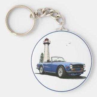 TR6 bleu Porte-clé Rond