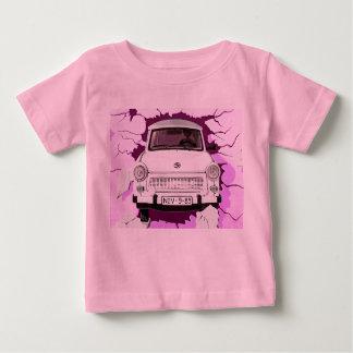 Trabant Car and Pink/Lilac Berlin Wall Baby T-Shirt
