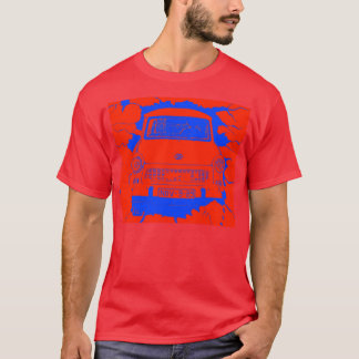 Trabant Car and Red/Blue Berlin Wall T-Shirt