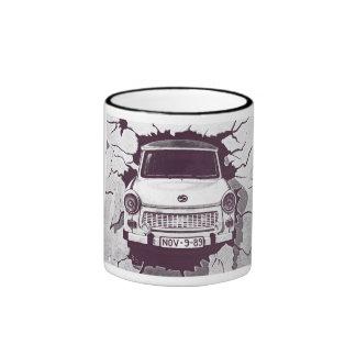 Trabant Car , Black & White, Berlin Wall (1) Mugs