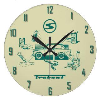 Trabant vintage large clock