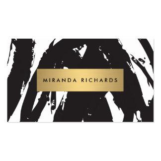 Traçages noirs abstraits pour le maquilleur carte de visite standard