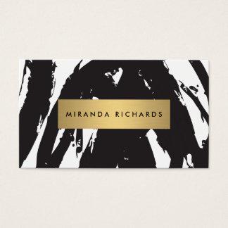 Traçages noirs abstraits pour le maquilleur cartes de visite