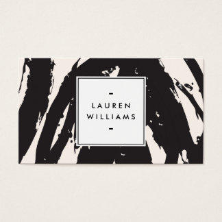 Traçages noirs élégants et abstraits cartes de visite