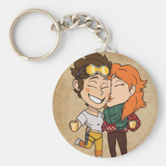 Tracer and Emily Keychain