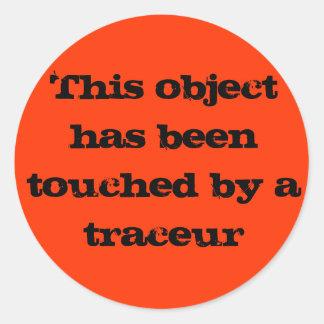 Traceur touch round sticker