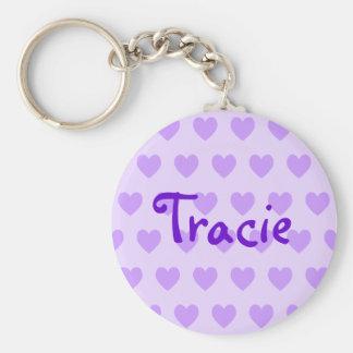 Tracie in Purple Basic Round Button Keychain