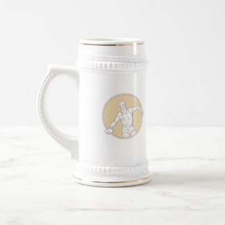 Track and Field Discus Thrower Circle Mono Line Beer Stein