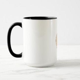 Track and Field Discus Thrower Circle Mono Line Mug
