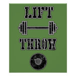 Track and Field Discus Thrower Poster