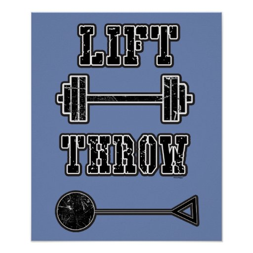 Track and Field Hammer Thrower Poster Gift