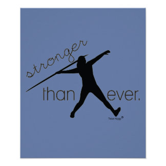 Track and Field Javelin Thrower Poster Gift
