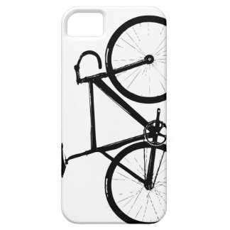 Track Bike - black on white iPhone 5 Cases