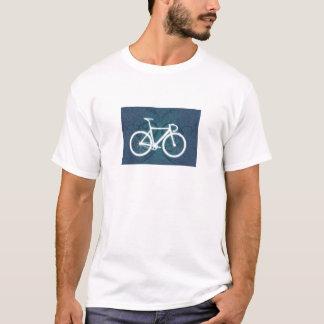 Track Bike - blue tattoo style T-Shirt