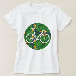 Track Bike Fiery Green Spot T-Shirt