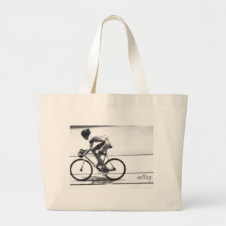 Track Cyclist Large Tote Bag