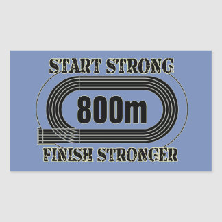 Track Field 800 Meter Middle Distance Runner Gift Sticker