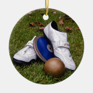 Track & Field Ceramic Ornament
