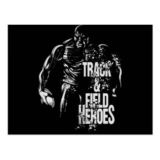 track & field  heroes-discus.png postcard