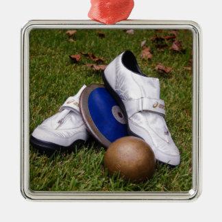 Track & Field Metal Ornament