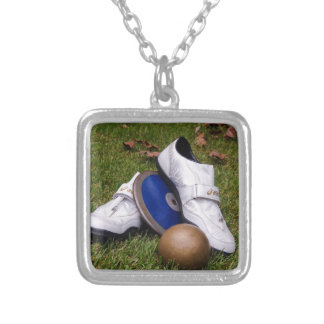 Track & Field Silver Plated Necklace