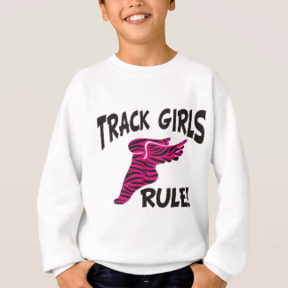 TRACK GIRLS BLACK ON HOT PINK SWEATSHIRT