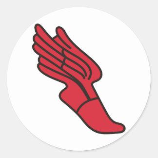 Track Logo Classic Round Sticker