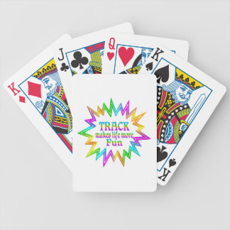 Track More Fun Bicycle Playing Cards