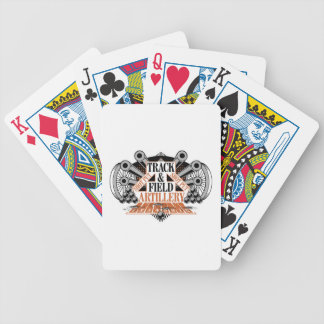 track n field artillery bicycle playing cards