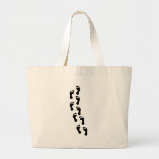Track of Footprints Large Tote Bag
